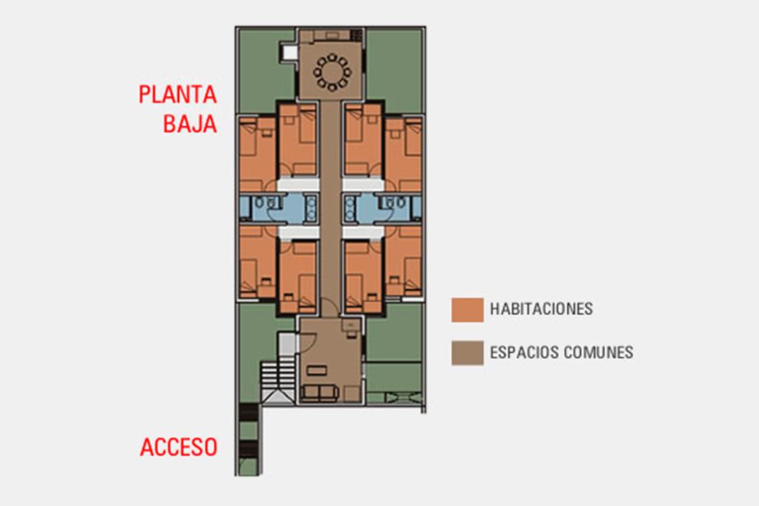 Planta baja - Residencia Quijote